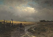 Feodor Vasilyev- After a Rain, Country Road - detail.JPG