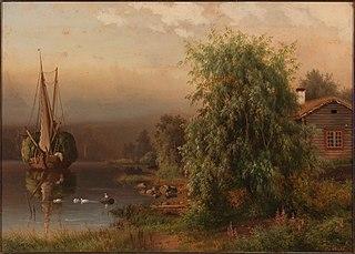 Landscape in Morning Fog