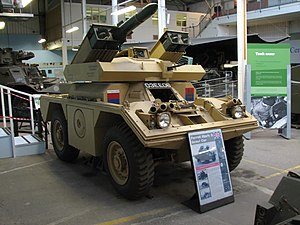 Swingfire - Ferret Mk 5 at The Tank Museum, Bovington