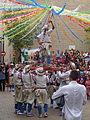Festa Major d'Igualada 2014 - 05 Cercavila de trasllat de Sant Bartomeu. Han pujat un pastoret..JPG