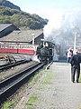 Ffestiniog train leaving Porthmadog - geograph.org.uk - 1553422.jpg