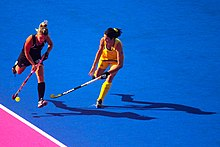 Field hockey at the 2012 Summer Olympics - NZL-AUS (7796662612).jpg