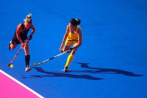 Gemma Flynn - Image: Field hockey at the 2012 Summer Olympics NZL AUS (7796662612)