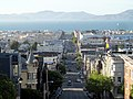 Fillmore Street north from Pacific Heights, June 2017.JPG