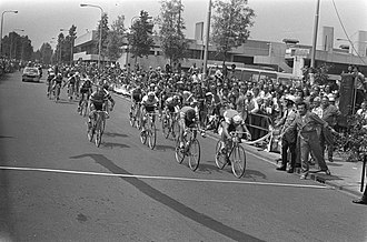 1973 Tour de France - The finish of stage 1a in Rotterdam, Netherlands, won by Willy Teirlinck