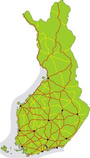 Finnish national road 55 Road in Uusimaa region, Finland