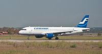 Finnair Airbus A320-200 OH-LXF Fiumicino Airport.jpg