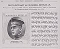 First Lieutenant Alvin Morell Bentley, Jr. Influenza related death on November 16, 1918 - The History and achievements of the Fort Sheridan officersʾ training camps (IA historyachieveme00fort 1) (page 50 crop).jpg