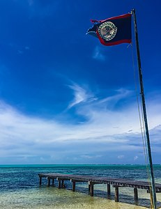 Flag at Lighthouse Reef Belize.jpg