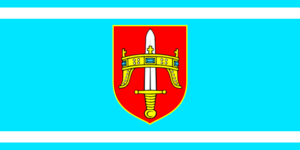Drniš - Image: Flag of Šibenik Knin County