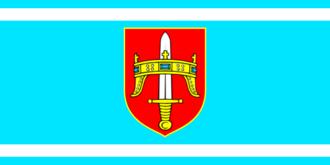 Drniš - Image: Flag of Šibenik Knin County