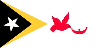 Municipalities of East Timor - Image: Flag of Baucau