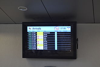 Laguindingan Airport - A flight information screen seen at the arrival area.