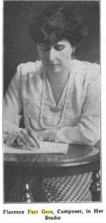 Florence Parr Gere Canadian-born American pianist and composer