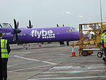 Flybe (G-JEDW), Belfast City Airport, February 2015.JPG