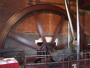 English: Flywheel 'C engine' Claymills Pumping...