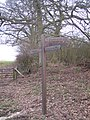 Footpath Marker Post near Bough Beech Reservoir Visitor Centre - geograph.org.uk - 1704683.jpg