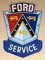 Ford service enamel advert sign at the den hartog ford museum pic-089.JPG