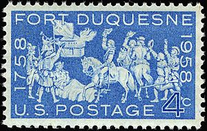 Fort Duquesne -    Fort Duquesne commemorative stamp, 1958 issue