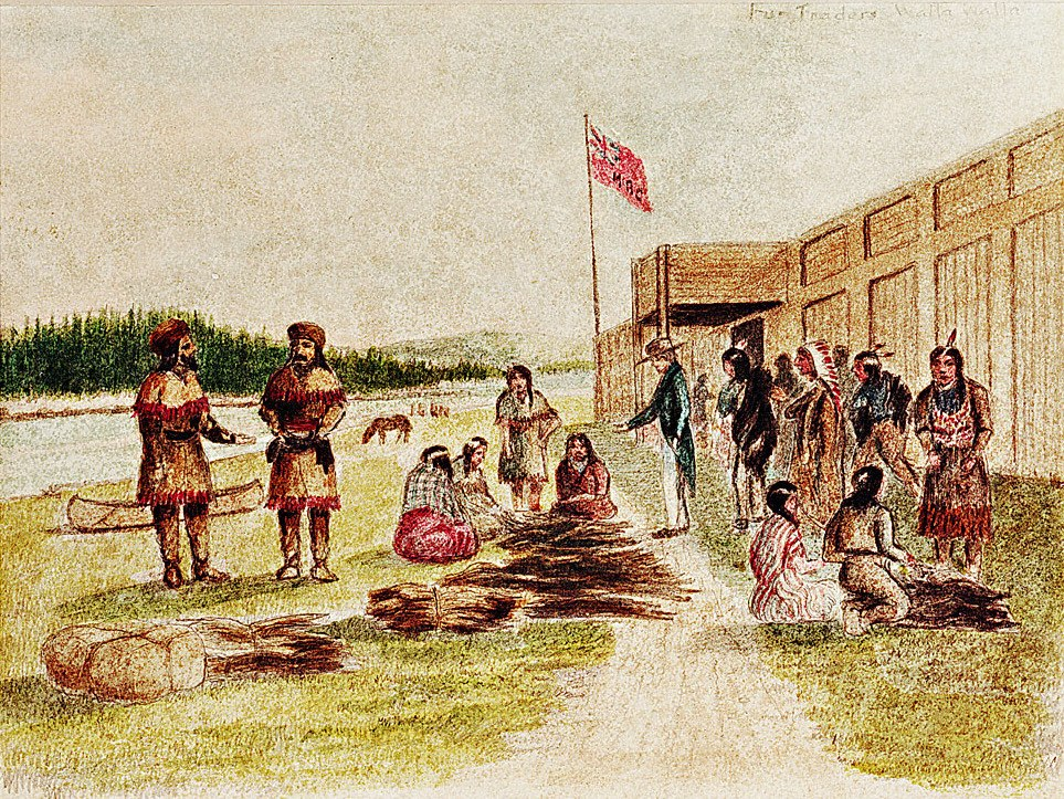 Fort Nez Perces Trading 1841 (cropped)