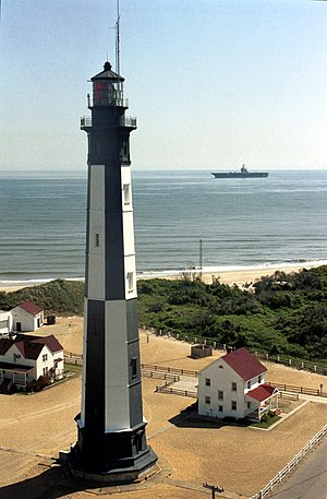Cape Henry Lighthouse - Image: Fort Story lighthouse