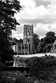 Fountains Abbey Black & White (3786282838).jpg