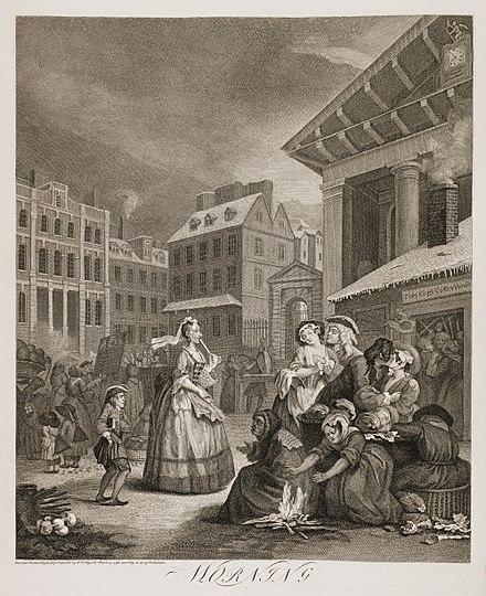 18th-century London by William Hogarth Four Times of the Day - Morning - Hogarth.jpg