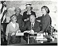 Four unidentified women and Mayor John F. Collins (11071824306).jpg