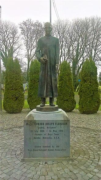 Ballymoe - Fr. Edward J. Flanagan statue