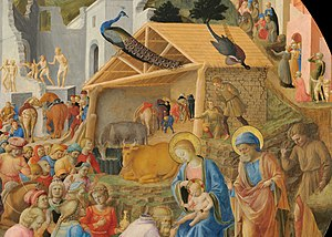 Adoration of the Magi (Fra Angelico and Filippo Lippi) - Detail of the central area