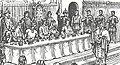 Fra højbordet ved banketten i juni 826 hos kejser Ludvig den Fromme efter dåben af Harald Klak og hans dronning (uddrag af originalbillede).jpg