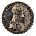 Framsida av medalj med bild av Gustav IV Adolf - Skoklosters slott - 100047.tif