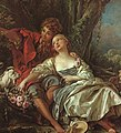 "François Boucher, pastoral painting ""Shepherd and Shepherdess Reposing"".jpg"