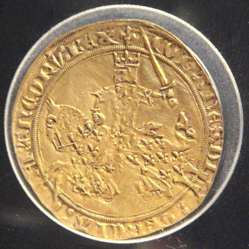 Franc a cheval de Jean le Bon 5 decembre 1360 or 3730mg