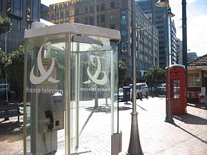 Orange S.A. - As a result of deregulation, Orange operates phone booth in Wellington, New Zealand.