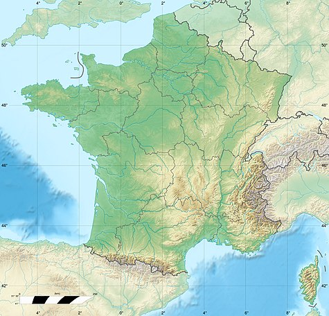 Ευρωπαϊκό Πρωτάθλημα Ποδοσφαίρου 2016 στον χάρτη: France