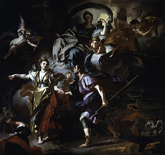 Francesco Solimena - The Royal Hunt of Dido and Aeneas, c. 1712