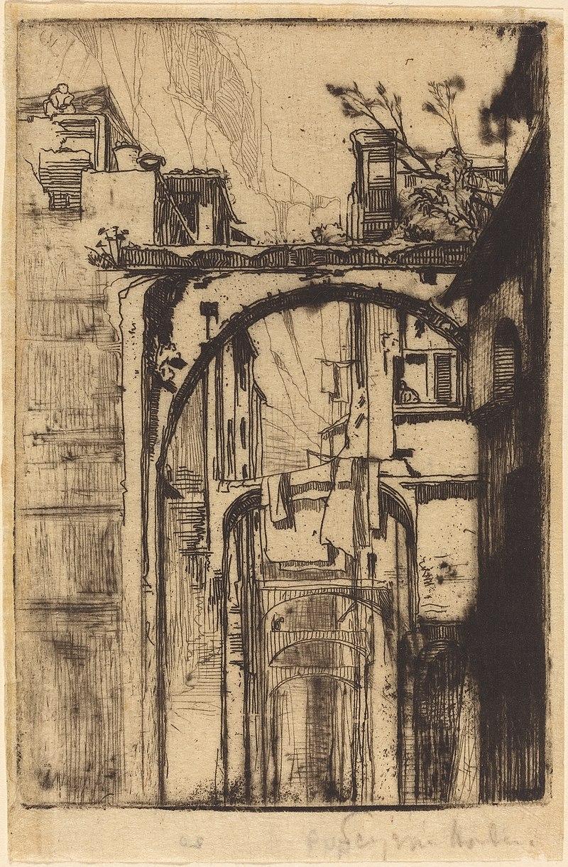 Francis Seymour Haden 1858 , Amalfi all'acquaforte