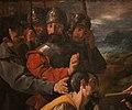 Francisco de zurbarán, san pietro nolasco che ritrova l'immagine della vergine di el puig, 1630, 02 militari.jpg