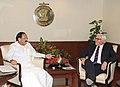 Frank-Walter Steinmeier meeting the Union Minister for Urban Development, Housing and Urban Poverty Alleviation and Parliamentary Affairs, Shri M. Venkaiah Naidu, in New Delhi on September 08, 2014.jpg