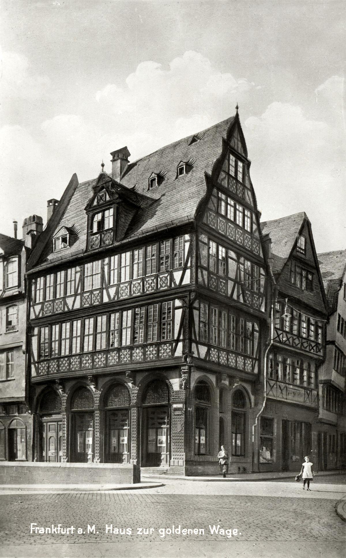 haus zur goldenen waage frankfurt  main wikipedia