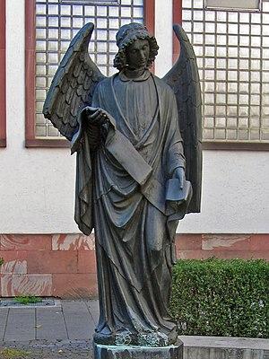 Rosemarie Trockel - The Frankfurter Engel, in Klaus Mann Platz, Frankfurt am Main; 1994, cast iron