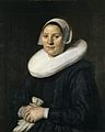Frans Hals - Portrait of a woman in millstone collar holding gloves in clasped hands - NMWA25.jpg