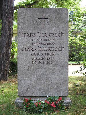 Franz Delitzsch - Franz Delitzch's gravestone in Leipzig.