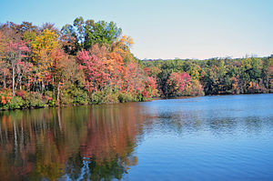 French Creek State Park - Hopewell Lake in autumn