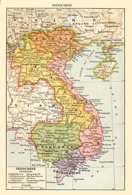 Map of French Indochina in the 1930s French Indochina c. 1930.jpg
