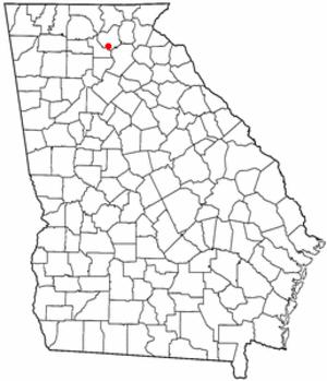 Auraria, Georgia - Image: GA Map doton Auraria
