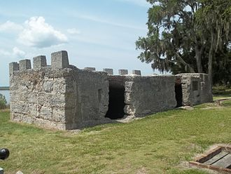 St. Simons, Georgia - Remains of Fort Frederica