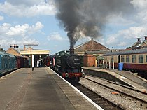 GWR Pannier tank 9466 at the Mid Norfolk Railway - geograph.org.uk - 1435387.jpg
