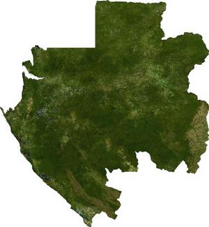 Geography of Gabon - Image: Gabon sat